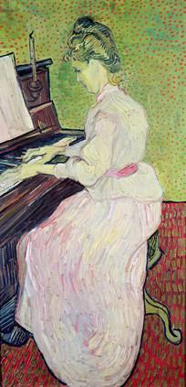 梵高 玛格丽特在弹钢琴