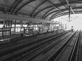 黑白图轨道交通