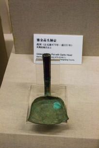 古代鎏金蒜头铜壶