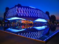 哈尔滨音乐厅的夜晚