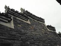 明清马头墙青砖老房子
