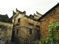 明清青砖灰瓦马头墙老房子