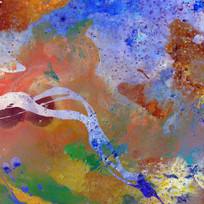 玄关壁画 抽象油画
