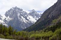 阿坝毕棚沟雪山冰川