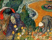 梵高 采花的女人