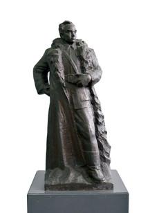 抗日将领李兆林将军雕像