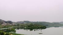 傍晚的时光贵州湖畔风光