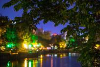 惠州西湖的南湖夜景