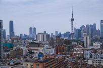 上海东方明珠与老城厢
