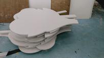 雕刻好的PVC板