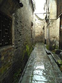 古老的青砖石板小路巷子