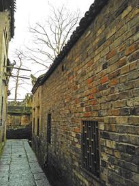 老房子青砖小路巷子