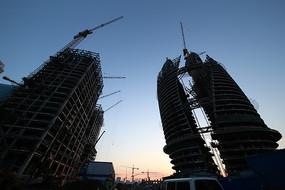 丽泽商务区建设工地