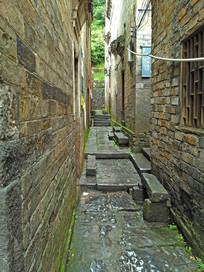 明清青砖石板小路巷子