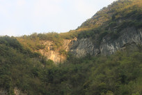 山峰绝壁自然风景