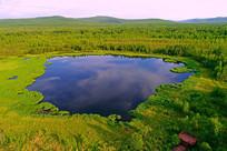 大兴安岭森林湖
