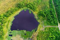 航拍马兰湖