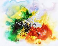 水墨 壁画 抽象 背景