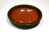 西汉漆木盘