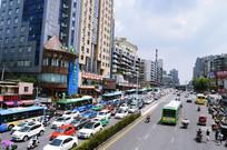 贵阳市区堵车照片