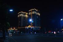 职教城商业广场夜景