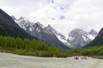 毕棚沟雪山冰川