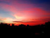 火红的夕阳红