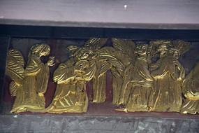 金漆木雕古代妇女