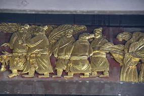 金漆木雕古代人物