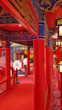中国红亭廊