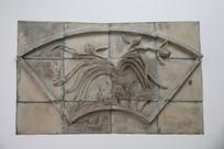 砖雕兰花图