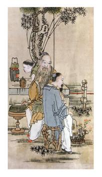 古版年画易茶图