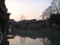 凤凰古城傍晚风景