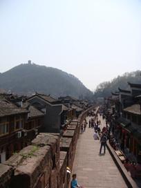 凤凰古城城墙俯拍