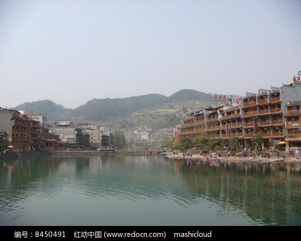 凤凰古城全景小楼图片