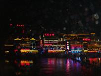 凤凰古城夜景店面
