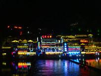 凤凰古城夜景摄影图