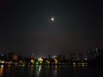 惠州南湖的夜景风光