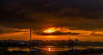 立沙岛的傍晚风光