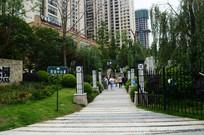 中央公园楼盘绿化环境实景照片