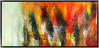 抽象油画 极简风格简约画