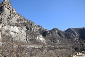 冬季的荒山