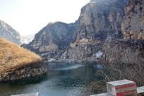 冬季的山水风景