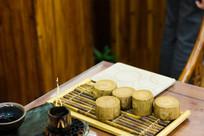 仿木质瓷器茶杯