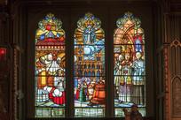 蒙特利尔圣母大教堂玻璃图案