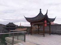 时光贵州古镇的亭子