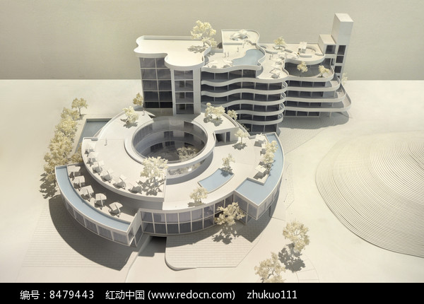 度假酒店建筑模型图片