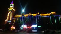 街头建筑霓虹灯