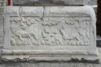 清代石碑基座宝马纹