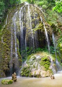 溪流银瀑摄影图